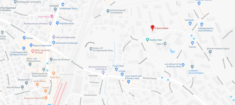 Google Maps: Standort 5 Sternemaler Vogel